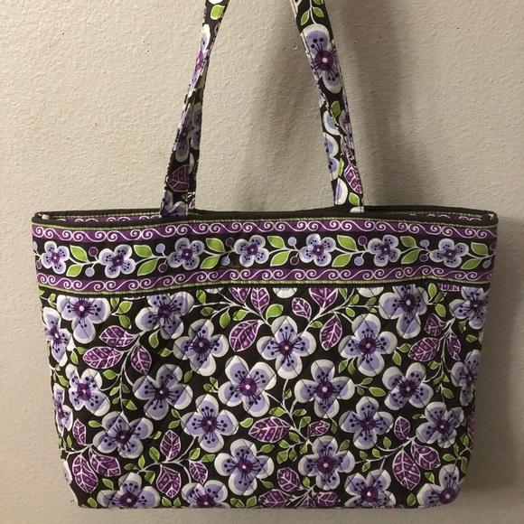 Vera Bradley Purple Floral Shoulder  Tote Handbag.  M 5aa74f2a6bf5a62e7e668df0 bb15cf9942cff